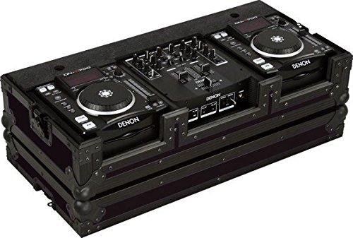 (Marathon Flight Road Blk Series Case MA-Dnsx1200Blk Black Series - Coffin Holds 2X Small Format CD Players + 10-Inch Mixer )