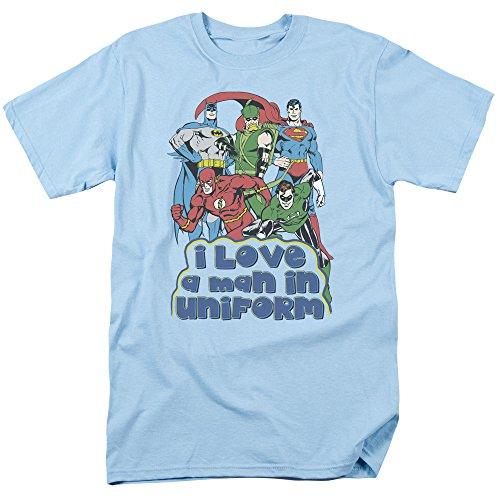 DC Comics Classic Heroes I Love A Man In Uniform Bronze Age Adult T-Shirt Tee