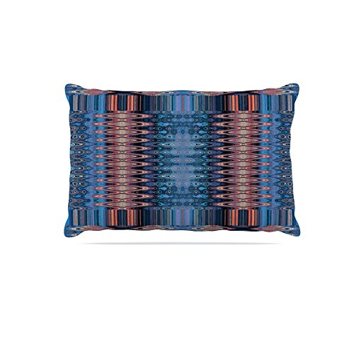 Kess InHouse Nina May Larina Nueva Sky  Fleece Dog Bed, 50 by 60 , bluee orange