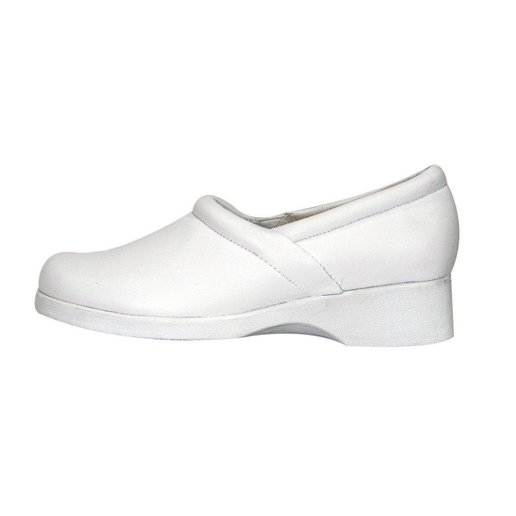 24 Hour Comfort  Carol (1029) Women Wide Width Comfort Slip-On Shoes White 10.5 by 24 Hour Comfort (Image #2)