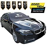 Windshield Snow Cover (Non-Scratch), BOFAA Windshield Cover with Mirror Covers for Winter, Blocking Snow, Sun, Fallen Leaves, Bird droppings. Fits Most Vehicle, Easy to Install (L-85 x 49 inches)