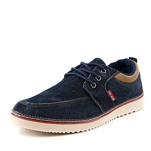Peso ligero transpirable zapatos de verano tendencia/Calzado deportivo casual/Zapatos ropa-de hombre de pie azul marino