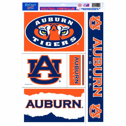 Tigers Ncaa Ultra Decal - NCAA Auburn Tigers Set of 5 11-by-17 Ultra Decal