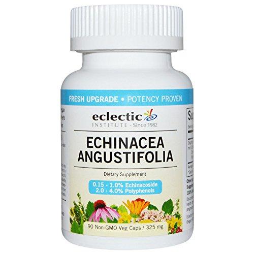 Institute Eclectic Echinacea - Eclectic Institute - Echinacea Angustifolia Root, 325 Milligrams, 90 veggie caps