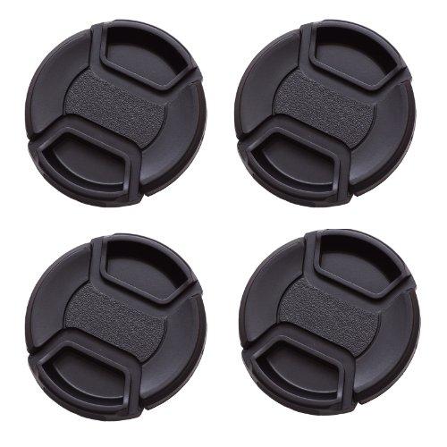 IMZ Lens Cap Bundle - 4 x 49MM Front Lens Filter Snap On Pinch Cap Protector Cover For DSLR SLR Camera Lens