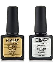 Elite99 Base y Top Coat Semipermentes, Esmaltes Semipermanentes de Uñas en Gel UV LED Gel Soak Off