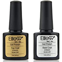 Elite99 Base e Top Coat Semipermanenti, Smalto Semipermente per Unghie in Gel UV LED