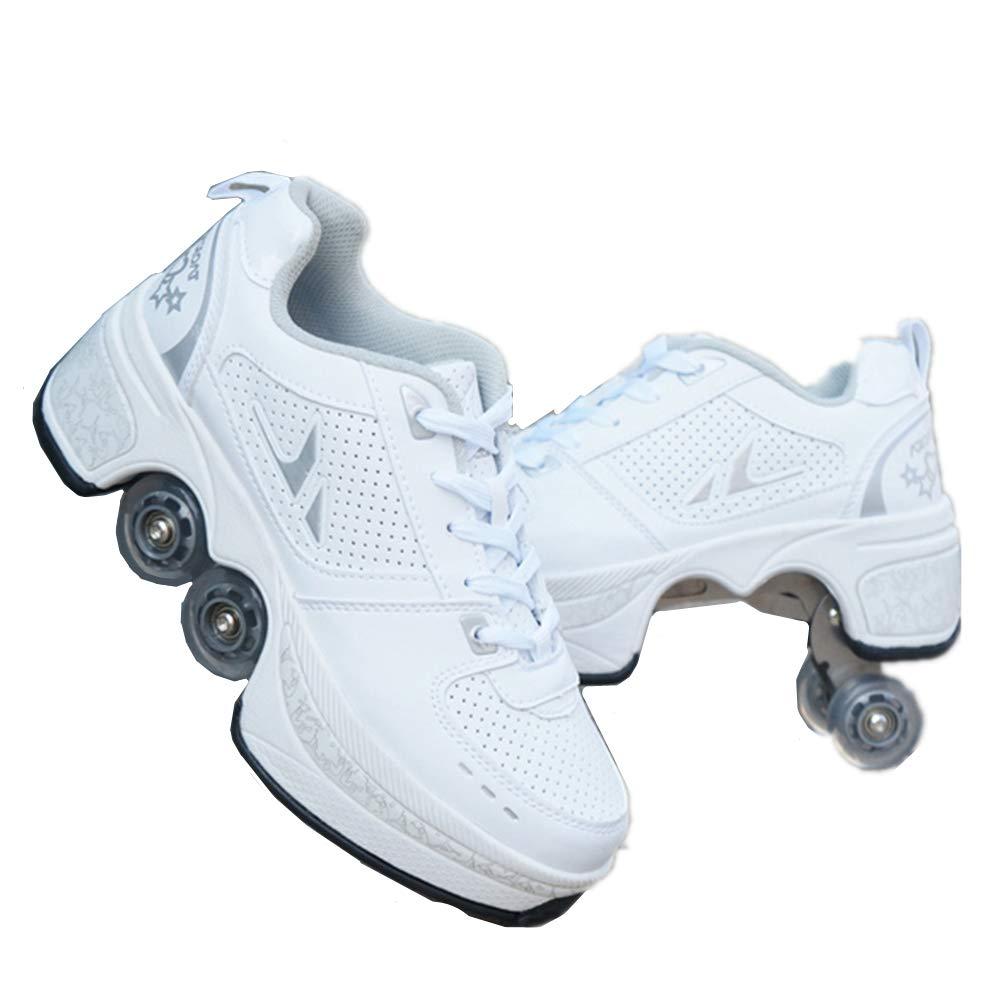 sanheng fire Deformation Parkour Shoes Cuatro Redondos de Zapatillas de Running Patines, 41, Hora del té: Amazon.es: Deportes y aire libre