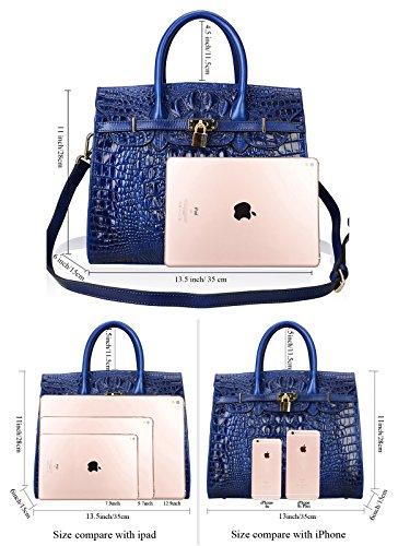 3d0cb96388af PIJUSHI Crocodile Handbags And Purses Satchel Office Padlock Handbag For  Women 22130