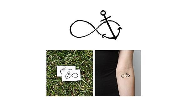 Tatuaje Temporal Tattify - Signo del infinito y ancla - Castigado ...