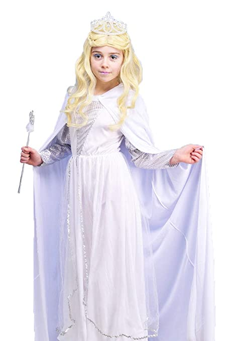 5eb7d15ecee4 MagicBox Kids The White Witch Narnia Style Costume Small (3-5yrs):  Amazon.co.uk: Toys & Games