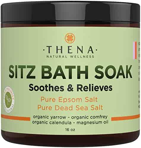 Best Organic Sitz Bath Soak For Postpartum Care Recovery & Natural Hemorrhoid Treatment, Soothes Relieves Pain Reduces Discomfort, 100% Pure Epsom & Dead Sea Salts Witch Hazel Lavender Essential Oil