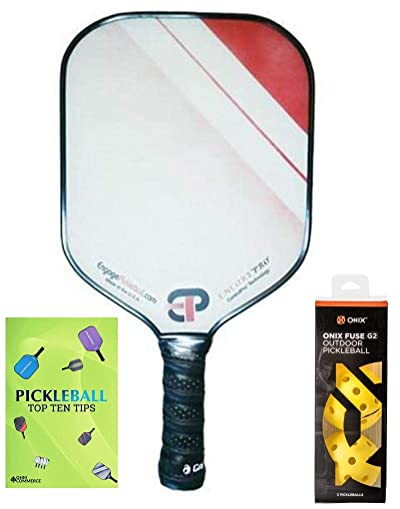 Engage Encore Pro Pickleball Paddle & Onix 3-Pack Fuse G2 Pickleball Balls & Pickle Ball Tips Sheet