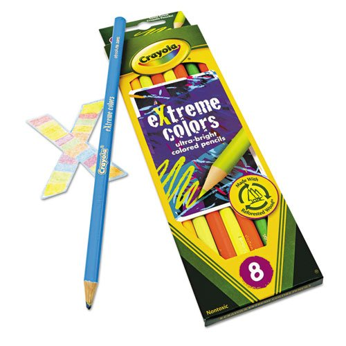 Crayola - Extreme Colored Pencil Set, Assorted, 8/Set 68-1120 (DMi EA