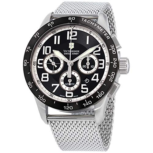 (Victorinox AirBoss Mach 6 Mechanical Black Chronograph Dial Men's Watch 241447.1)