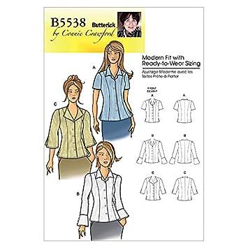Butterick Schnittmuster 5538 – Damen Top Größen: xs-s-m-l-xl: Amazon ...