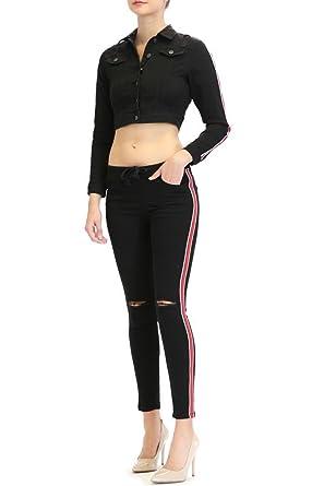480bc8e890047 American Bazi G-Style USA Women's Side Striped Band Jacket and Jogger Set  at Amazon Women's Clothing store: