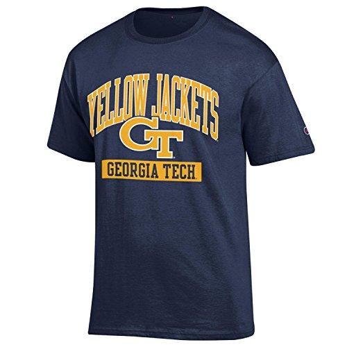 Champion NCAA Georgia Tech Men's Men's Kick-Off Short sleeve T-Shirt, X-Large, Navy Georgia Tech Mens Shorts