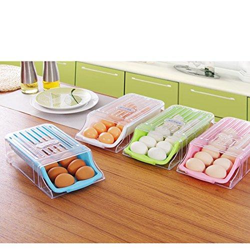 Zehui Kitchen Home Refrigerator Storage Plastic Drawer Type Egg Holder Box Container Dispenser Case