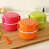 Candy Color Bento Lunch Box Kids Food Safe PP Food Container Microwave Dishwasher Workable Snack Box Sweet Plastic Storage Box