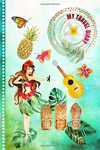 Travel Diary  Hawaii Activity Book   Girls Guided Journey Log Book   Record Tracker For Writing Sketching Gratitude Prompt   Vacation Activities ... Keepsake Journal Hawaiian Traveling Notebook