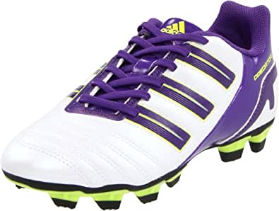 adidas Predito_X TRX FG Soccer Cleat (Toddler/Little Kid/Big Kid),Predator Running White/Sharp Purple/Electricity,8.5 M US Toddler