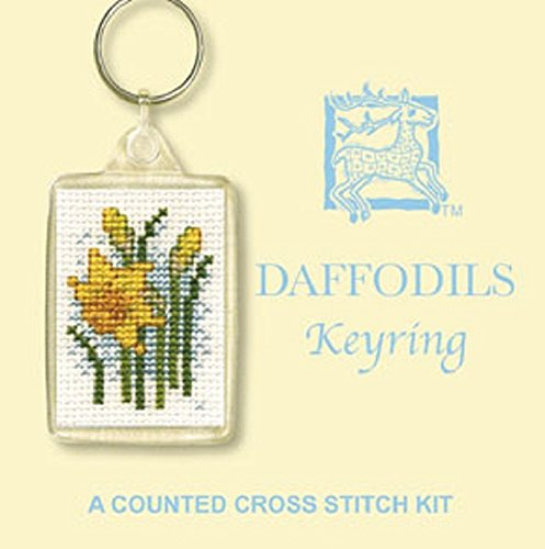 Textile Heritage Keyring Counted Cross Stitch Kit - Daffodils