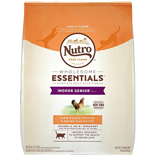Nutro Chicken & Whole Brown Rice Indoor Senior Cat Food, 3 l