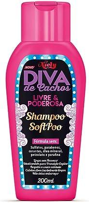 Shampoo Soft Poo Diva de Cachos, 200 ml, Niely