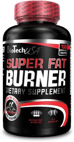Biotech USA Super Fat Burner, 120 Tablets | Natural Weight Loss Exercise Enhancement, Increase Lean Muscle Mass, Non-Stimulating, Non-GMO, Gluten-Free 100%