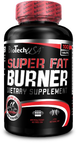 Biotech USA Super Fat Burner, 120 Tablets | Natural Weight Loss Exercise Enhancement, Increase Lean Muscle Mass, Non-Stimulating, Non-GMO, Gluten-Free 100% ()