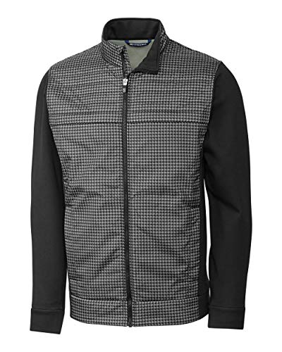 - Cutter & Buck Men's Wind-Resistant Discovery Windblock Hybrid Jacket, Black, M