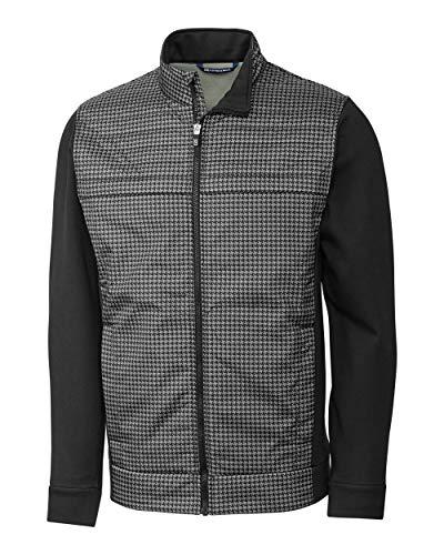 Windblock Jacket - Cutter & Buck Men's Wind-Resistant Discovery Windblock Hybrid Jacket, Black, M