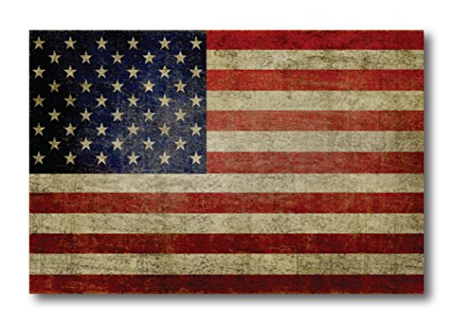 American Flag Car Magnet Decal Weathered Look 4in x 6 in Heavy Duty for Car Truck SUV Waterproof