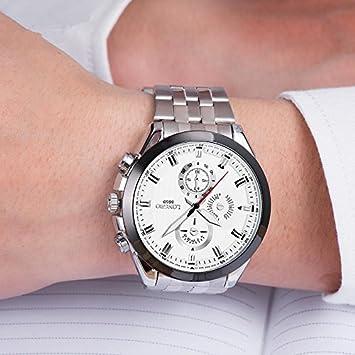 XXFFH Reloj Casual Digital Mecánica Solar Tres Ojos Pin Seis Tiras En Deportes Y Ocio Moda De Cuarzo De Reloj Men , B: Amazon.es: Deportes y aire libre