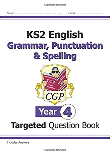 ks2 english targeted question book grammar punctuation spelling year 4 cgp ks2 english amazoncouk cgp books 8601405930989 books
