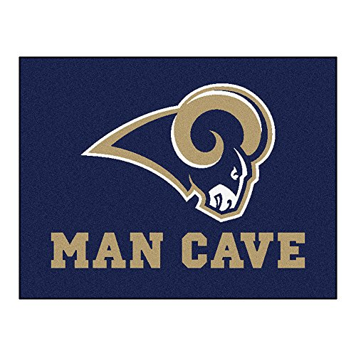 FANMATS 14372 NFL St. Louis Rams Nylon Universal Man Cave All-Star Mat