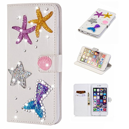 AICEDA Oukitel U18 Case, Oukitel U18 Leather Wallet Case Book Design with Flip Cover and Stand [Credit Card Slot] Cover Case for Oukitel U18 - Starfish
