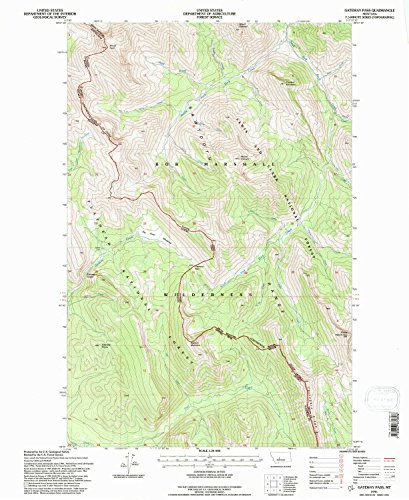 (YellowMaps Gateway Pass MT topo map, 1:24000 Scale, 7.5 X 7.5 Minute, Historical, 1995, Updated 1997, 27.1 x 22.1 in - Paper)
