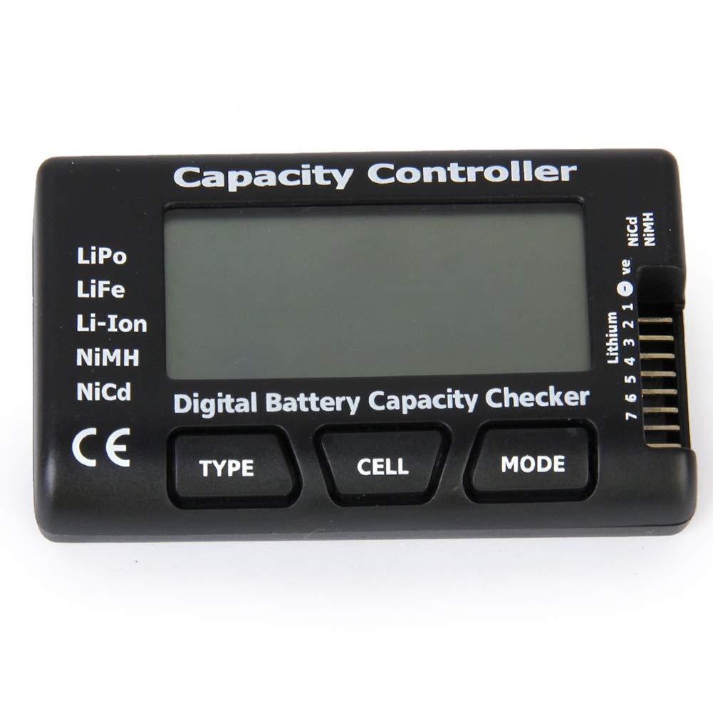 lujiaoshout Capacit/é de la Batterie num/érique testeur Indicateur Checker pour LiPo Life Li-ION NiCd NiMH