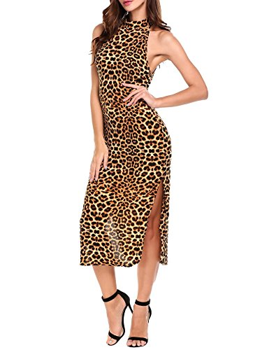 halter animal print dress - 3