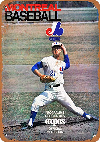NNHG Tin Sign 8x12 inches 1969 Montreal Expos - Vintage Look Reproduction