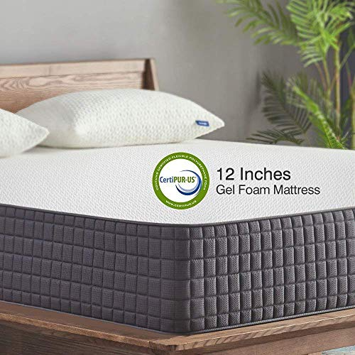 Queen Mattress,Sweetnight 12 inch Gel Memory Foam Mattress in a Box, Sleeps Cooler, Supportive & Pressure Relief for a Deeper Restful Sleep with CertiPUR-US Certified Foam,Queen Size