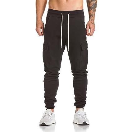 43e6ab26f Yoga Pants Bootcut,Men Trousers Harem Sweatpants Slacks Casual Jogger Dance  Sportwear Baggy BK/