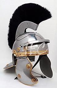Centurian Armor Helmet With Black Plume Medieval Knight Roman Officer Helmet