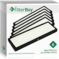 6 - FilterBuy GermGuardian FLT4825 HEPA Replacement Filters, Filter B. Designed by FilterBuy to fit GermGuardian AC4300, AC4800, AC4900 Series Air Purifiers.