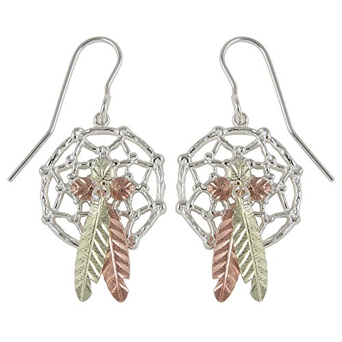 Black Hills Silver Dreamcatcher Earrings with Shepherd Hooks