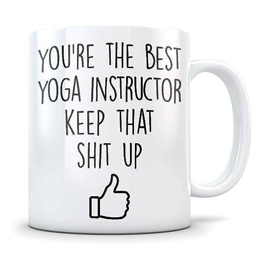 Taza de yoga con instrucciones de yoga, ideal para regalo de ...