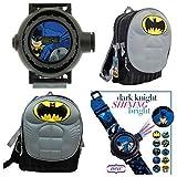 Batman Dark Knight Kids Molded Chest Backpack & 10 Image Batman Gotham Projector Watch