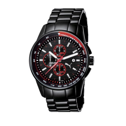 Puma Men's PU101011001 Motor Sport Collection Top Race Chronograph Watch